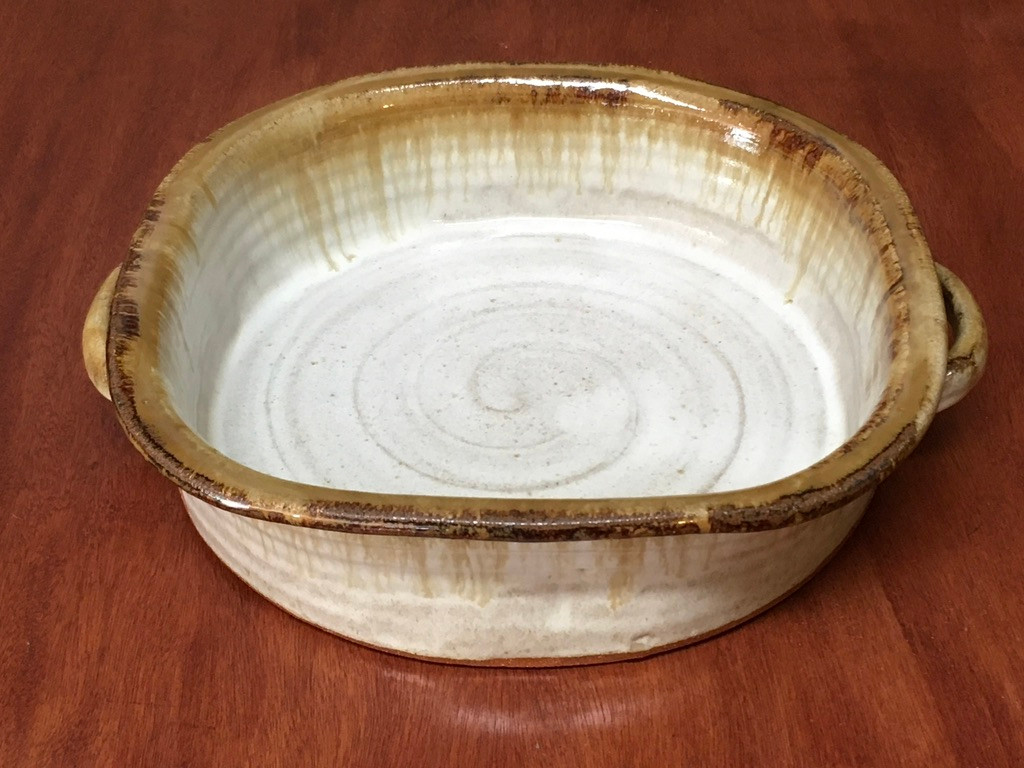 """Flawed/Imperfect Large Square Baker, Roughly 2.5"""" Tall by 10"""" Wide on the Interior Dimensions and 11.5"""" wide on the Exterior Dimensions, Including the 2 Handles (SK5453)"""