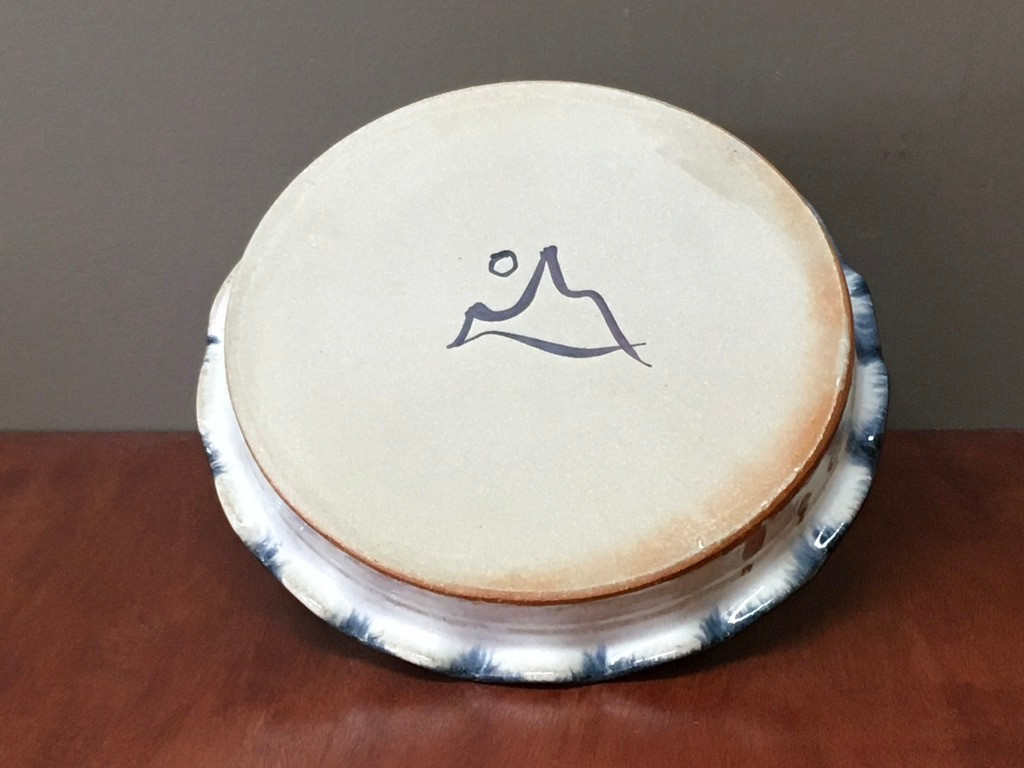 Nuka Cobalt Pie Plate, roughly 10.5 inches wide (SK5458)