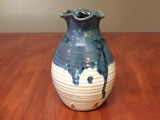 Drippy Nuka Cobalt Vase, Roughly 8 Inches Tall by 5 Inches Wide (SK4118)