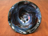 "Cosmic Bowl , roughly 3.5 inches tall by 6.25 inches wide, Inspired by a ""Planetary Nebula"" (SK4195)"