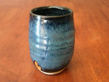 Blue Nuka Cobalt Cup, roughly 10-12 ounce size (SK4469)