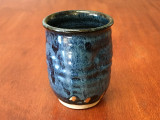 Blue Nuka Cobalt Cup, roughly 10-12 ounce size (SK4471)