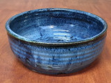 Blue Nuka Cobalt Serving Bowl, Roughly 10 Inches Wide by 3.5 Inches Tall (SK 4503)