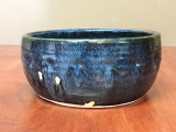 Blue Nuka Cobalt Serving Bowl, Roughly 9 Inches Wide by 4 Inches Tall (SK 4504)
