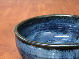Blue Nuka Cobalt Serving Bowl, Roughly 10 Inches Wide by 4 Inches Tall (SK 4507)