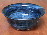 Blue Nuka Cobalt Serving Bowl, Roughly 10.5 Inches Wide by 4 Inches Tall (SK 4600)