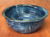 Blue Nuka Cobalt Serving Bowl, Roughly 10 Inches Wide by 3.5 Inches Tall (SK 4651)