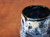 """Blue Lunar/Moon Cup, roughly 10oz size, Inspired by a """"Planetary Nebula"""" (SK4753)"""