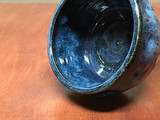 Discounted, Small Blue Nuka Cobalt Serving Bowl, roughly 6 inches wide by 4 inches tall,  (SK4835)