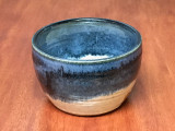 Small Nuka Cobalt Serving Bowl, roughly 6 inches wide by 4 inches tall,  (SK5118)