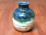 """Tiny Vase - Nuka Cobalt, Roughly 3"""" wide by 4.5"""" tall (SK5162)"""