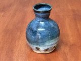 """Tiny Vase - Nuka Cobalt, Roughly 3.5"""" wide by 4.5"""" tall (SK5419)"""