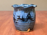 """Blue Nuka Cobalt Vase, Roughly 4.5"""" wide by 5"""" tall (SK5687)"""