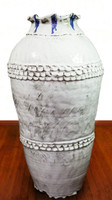 Glossy, White Nuka Jar with Cobalt Drips, Roughly 30 Inches by 15 Inches Wide: $17,995
