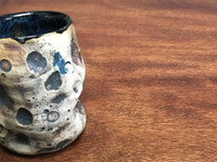 """Unique, Flawed Lunar/Moon Cup, roughly 12oz size, Inspired by a """"Planetary Nebula"""" (SK1299)"""