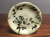 Experimental Salad Plate, Glazed by Sienna, roughly 8 inches wide (SK2614)