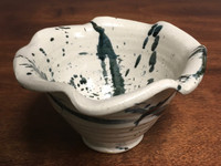 Experimental Bowl, roughly 6 inches wide by 3.5 inches tall, (SK2733)