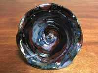 "Cosmic Bowl , roughly 3.5 inches tall by 6.25 inches wide, Inspired by a ""Planetary Nebula"" (SK2767)"