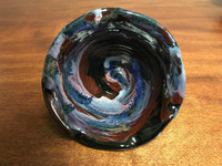 """Cosmic Bowl , roughly 3.5 inches tall by 6.25 inches wide, Inspired by a """"Planetary Nebula"""" (SK2787)"""