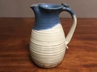 Tall Nuka Cobalt Pitcher, roughly 6 inches wide by 9.5 inches tall, (SK2931)