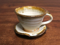 Nuka Iron Tea Cup and Saucer, Roughly 6-8 Ounce Size (SK2965)