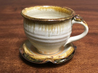 Nuka Iron Tea Cup and Saucer, Roughly 6-8 Ounce Size (SK2967)