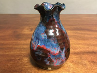 Cosmic Vase, roughly 7 inches tall, Inspired by a Planetary Nebula (SK2979)