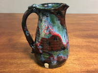 """Cosmic Pitcher, roughly 4 inches wide by 7 inches tall, Inspired by a """"Star-Formation Nebula"""" (SK2986)"""