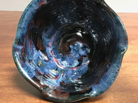 "Cosmic Serving Bowl, roughly 5 inches tall by 8 inches wide, Inspired by a ""Planetary Nebula""(SK3498)"