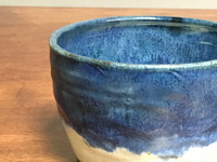 Beautiful Nuka Cobalt Bowl, roughly 7 inches wide by 4.5 inches tall,  (SK3506)