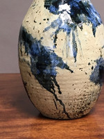"Coil Pot, Experimental Glaze, roughly  18"" high x 8 inches wide"