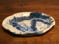 Experimental Salad Plate, roughly 8 inches wide (SK3666)