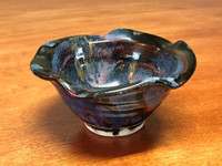 """Cosmic Bowl , roughly 8oz., 3 inches tall by 5.5 inches wide, Inspired by a """"Planetary Nebula"""" (SK3764)"""