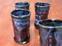 "Set of 4 Cosmic Cups, roughly 10-12oz size, Inspired by a ""Planetary Nebula"" (SK4225)"
