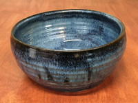 Blue Nuka Cobalt Serving Bowl, Roughly 9 Inches Wide by 4 Inches Tall (SK 4506)