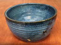 Blue Nuka Cobalt Serving Bowl, Roughly 9 Inches Wide by 5 Inches Tall (SK 4510)