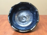 Blue Nuka Cobalt Serving Bowl, Roughly 10 Inches Wide by 4 Inches Tall (SK 4607)