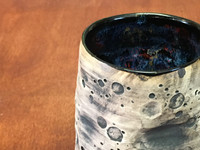 """Lunar/Moon Cup, roughly 10-12oz size, Inspired by a """"Planetary Nebula"""" (SK4743)"""