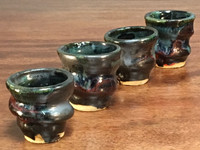 Set of 4 Cosmic Shot Cups, Randomly Chosen, roughly 1-2 ounce size each