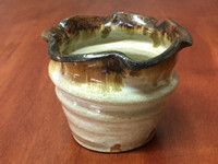 Wide Spiral, Nuka Iron Vase or Bowl, roughly 5.25 inches wide and 4 inches tall (SK5009)