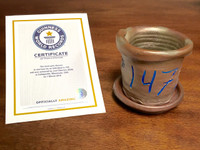 World Record Planter #147/159 and Certificate of Authenticity