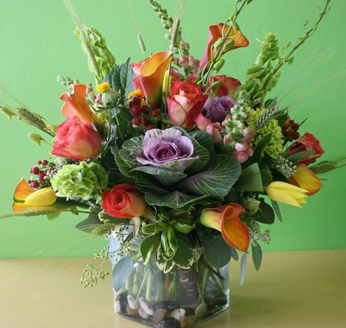 Premium Autumn Cube Vase