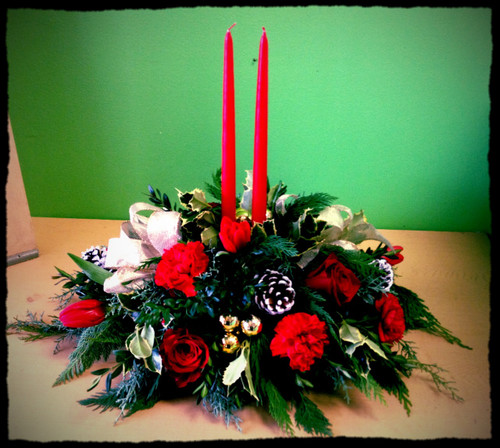 Traditional Candle Centerpiece