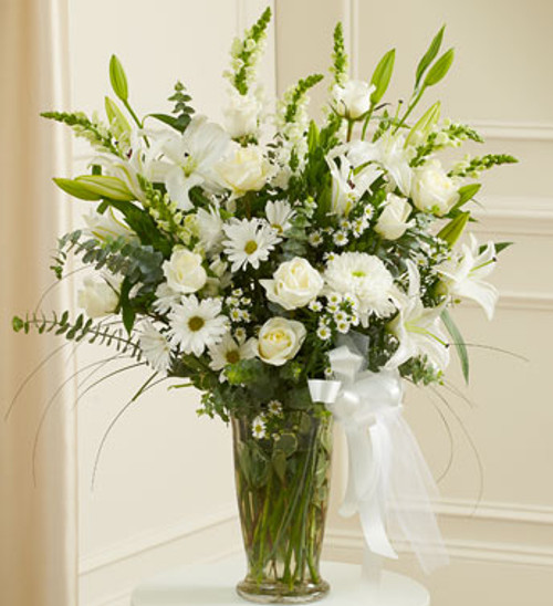 Large White Gathering Vase