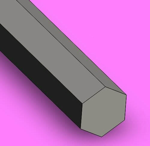 Stainless Steel, Hexagon
