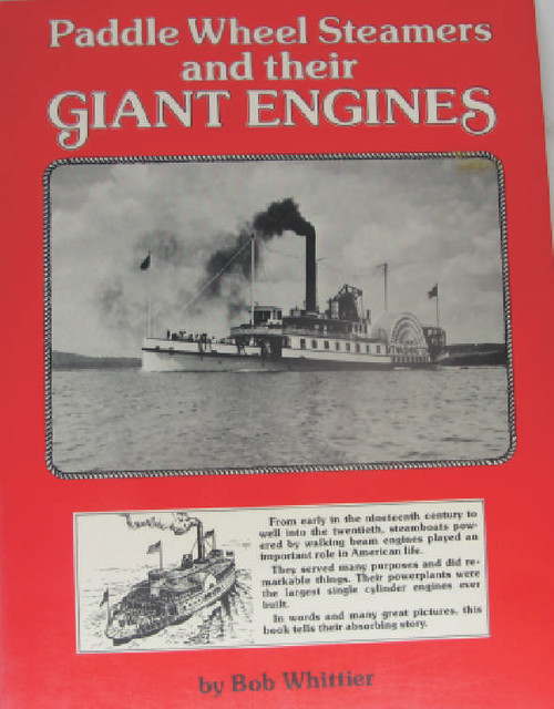 The history of early steam engines as used for marine application principally in American paddle wheelers of the 19th Century. Black and white line art drawings and monochrome photos. Excellent book for those in interested in the topic. Book is new and unused, has been sitting on the shelf for some years.