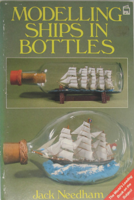 This book addresses the whole subject of making small ship models that fit into bottles and getting them into the bottles and tautly rigged. This is a comparatively new skill, as such demanding crafts go. Part of the secret of getting this ships into the bottles is well placed hinges. It includes all aspects of the craft and supplies black & white, and some colour  photographs of each stage of construction, rigging, & placing the model ship in the bottle.  New Book unread but a little shopworn on the cover.