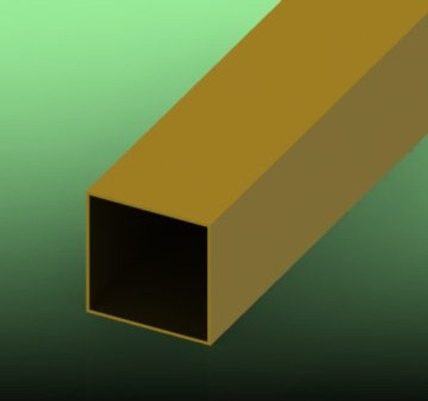 Brass, Square Tube
