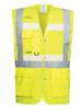 Portwest Glowtex Triple Vest: Front View Yellow