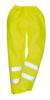 Portwest Hi-Vis Rain Pant: Front View Yellow